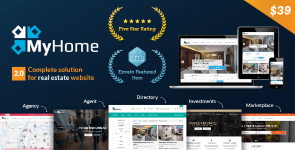 MyHome Real Estate WordPress theme