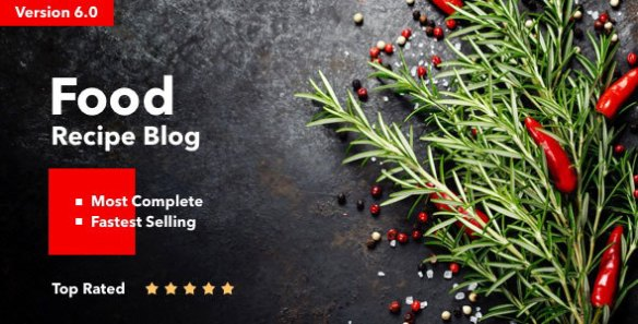 Neptune -Theme for Food Recipe Bloggers & Chefs NULLED