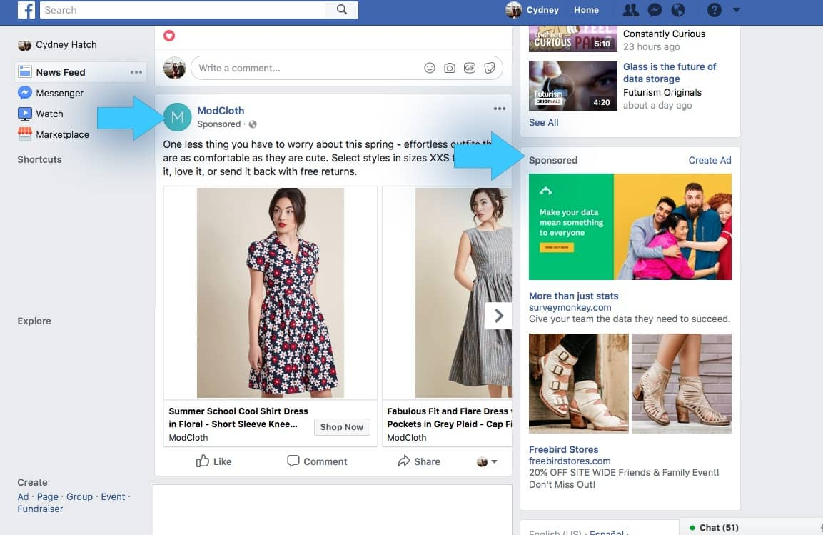 Create Facebook Ads for Shopify store