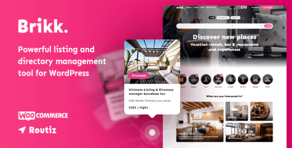 Brikk - Directory & Listing WordPress Theme