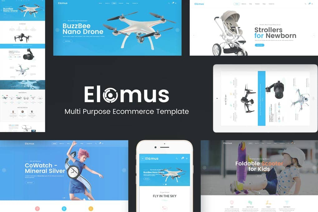 Elomus single product theme
