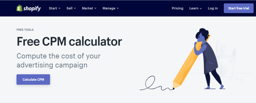 Free CPM Calculator Shopify Tool, Shopify Tools