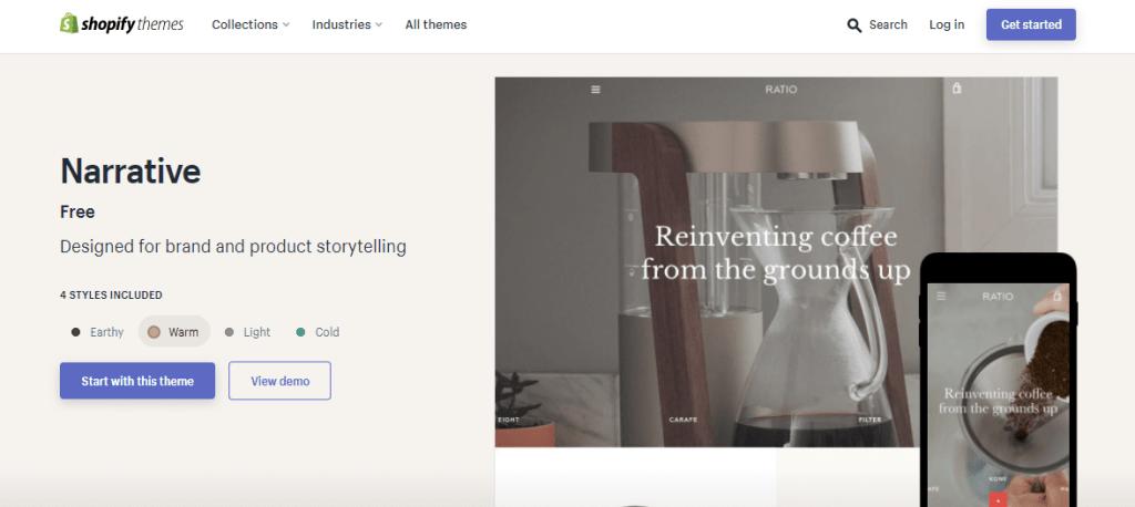 Narrative Shopify Theme