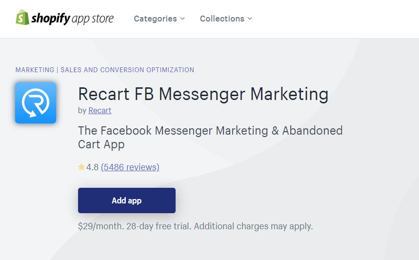 Recart Shopify Marketing App
