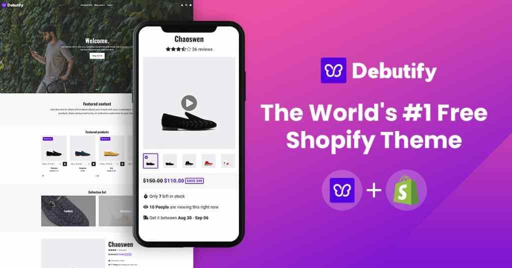 debutify best free shopify theme