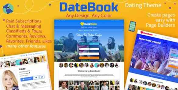 datebook dating wordpPress theme