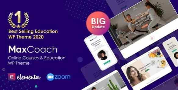 MaxCoach Online Courses & Education WP Theme
