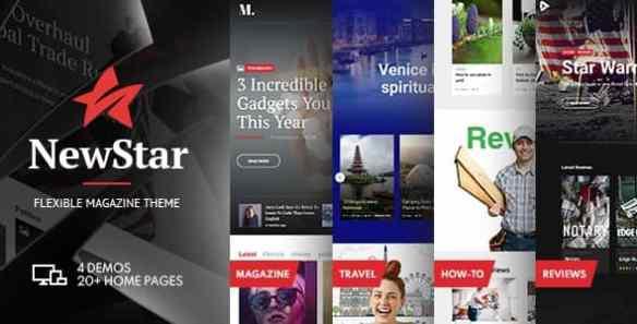 NewStar Magazine & News WordPress Theme