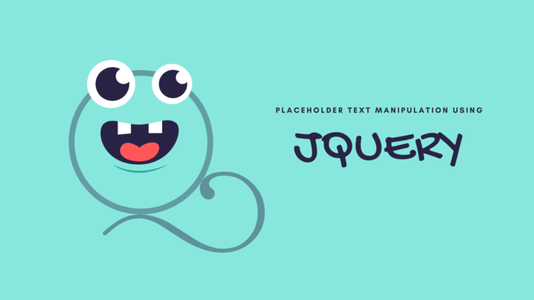 JQ function to manipulate placeholder text