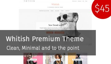 Whitish premium wordpress theme