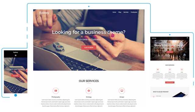 Sydney, responsive WordPress themes