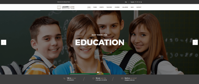 Education WordPress themes, Learn Care, Best education themes of 2017, Best education WordPress theme of 2017