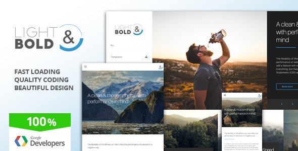 Light and Bold, Best WordPress themes and plugins for 2018, WordPress themes for 2018, WordPress themes