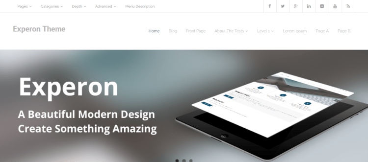 Experon-best-free-WordPress-themes-of-the-month-for-2020-WPreviewteam