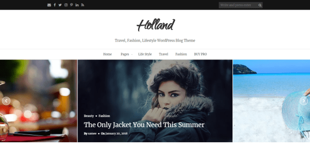 Holland, Free WordPress themes