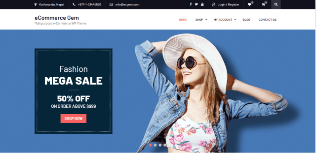 eCommerce Gem, Free WordPress themes