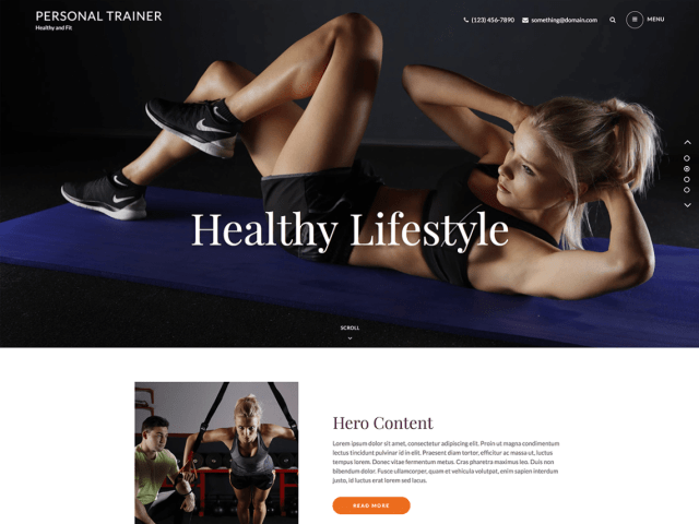 Personal Trainer, Free WordPress themes