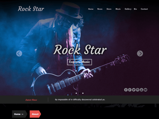 Rockstar, Free WordPress themes for musicians