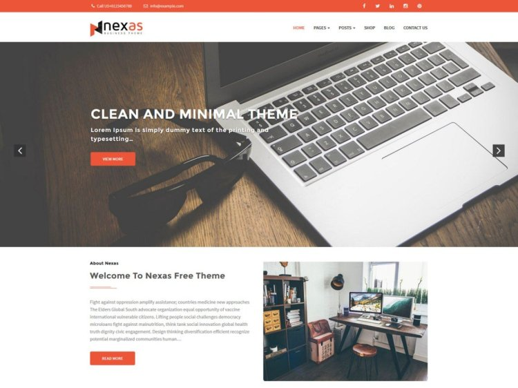 Free responsive WordPress themes, Nexas