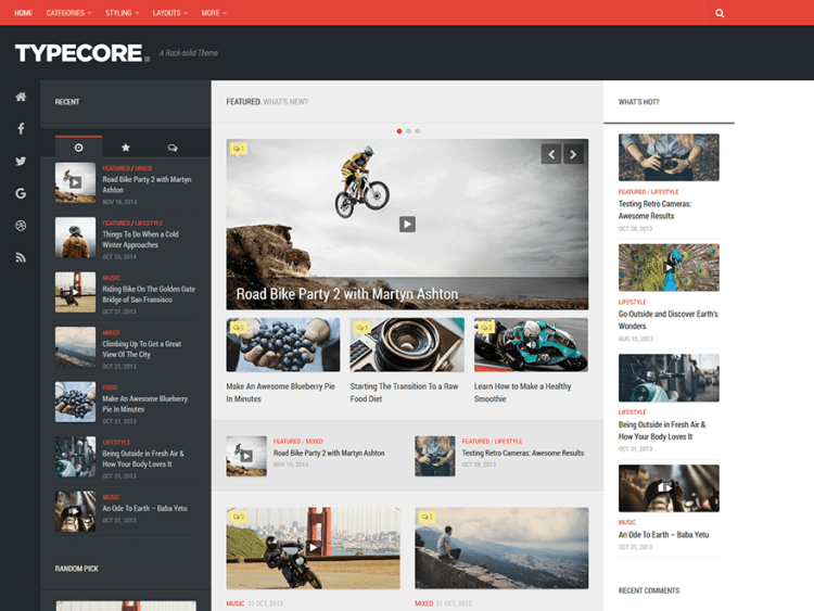 Typecore-best-free-responsive-WordPress-themes-for-blogs-WPreviewteam