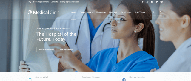 Medical Clinic, Premium Medical WordPress theme