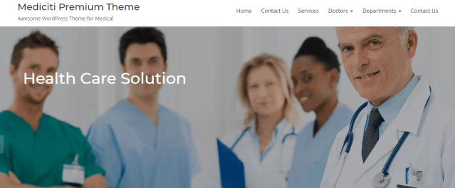 premium medical wordpress theme for clinic