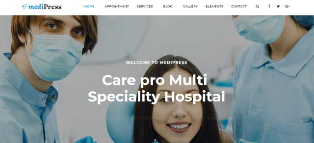 Premium Medical WordPress Theme, mediPress