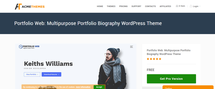 best-free-WordPress-portfolio-themes-Portfolio-Web-WPreviewteam