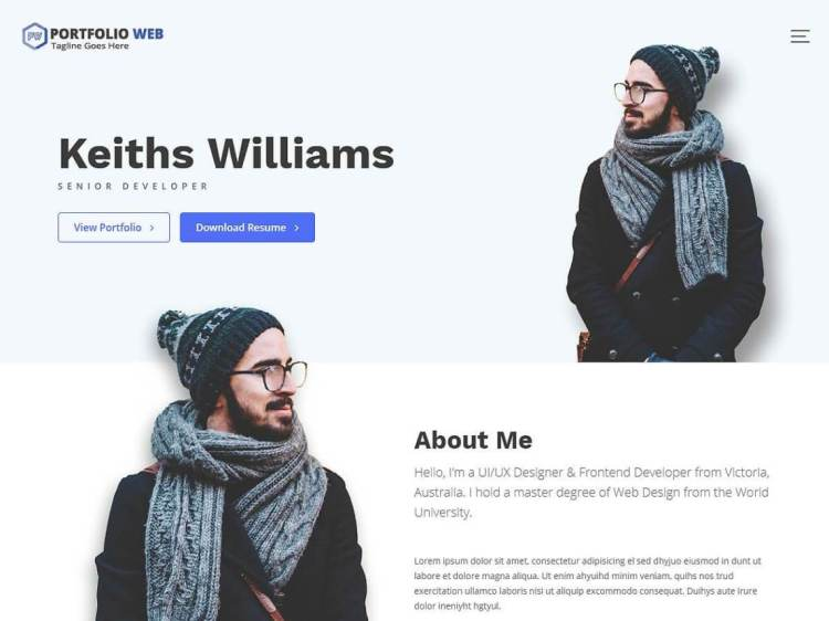 Portfolio-Web-free-portfolio-WordPress-theme-Yudleethemes