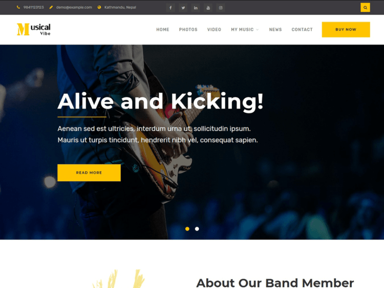 best free WordPress themes for musicians