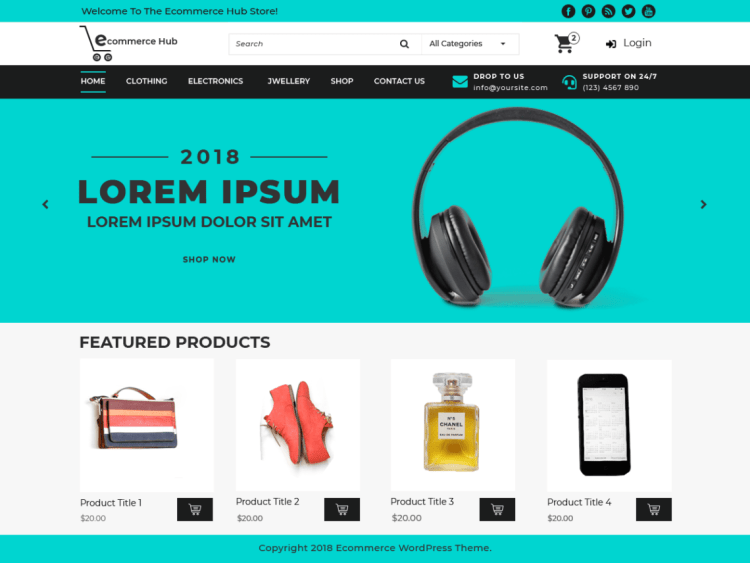 eCommerceHub-free-responsive-WooCommerce-WordPress-themes-WPreviewteam
