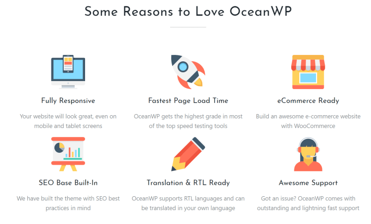 OeanWP multipurpose WordPress theme