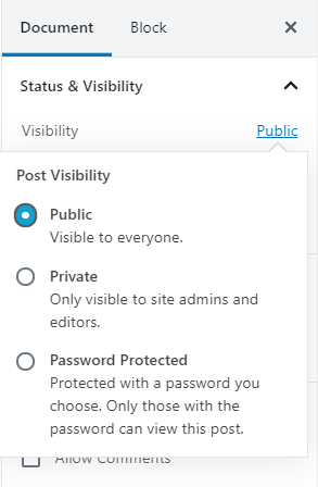 Add-new-page-WordPress-visibility-option-WPreviewteam