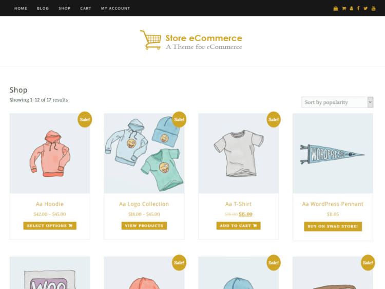 Store eCommerec-free-responsive-WordPress-themes-WPreviewteam