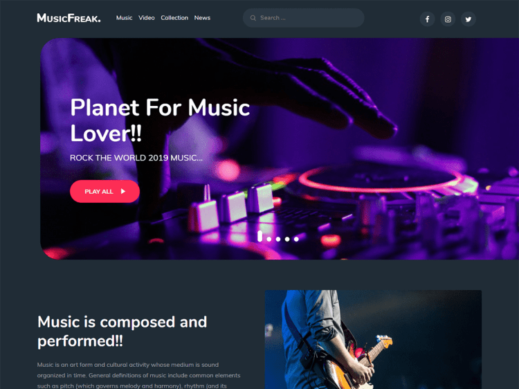 Music-Freak-free-responsive-music-WordPress-theme- WPreviewteam