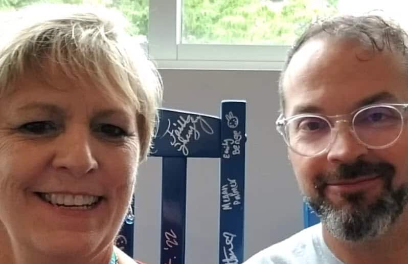 Adam Warner and Beth Livingston at WordCamp Asheville
