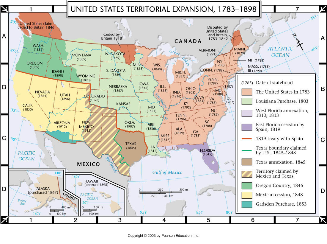 Atlas Map Us Territorial Expansion