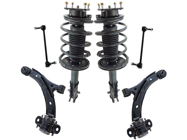 TRQ Strut Coil Spring Control Arm Kit fits Ford Mustang