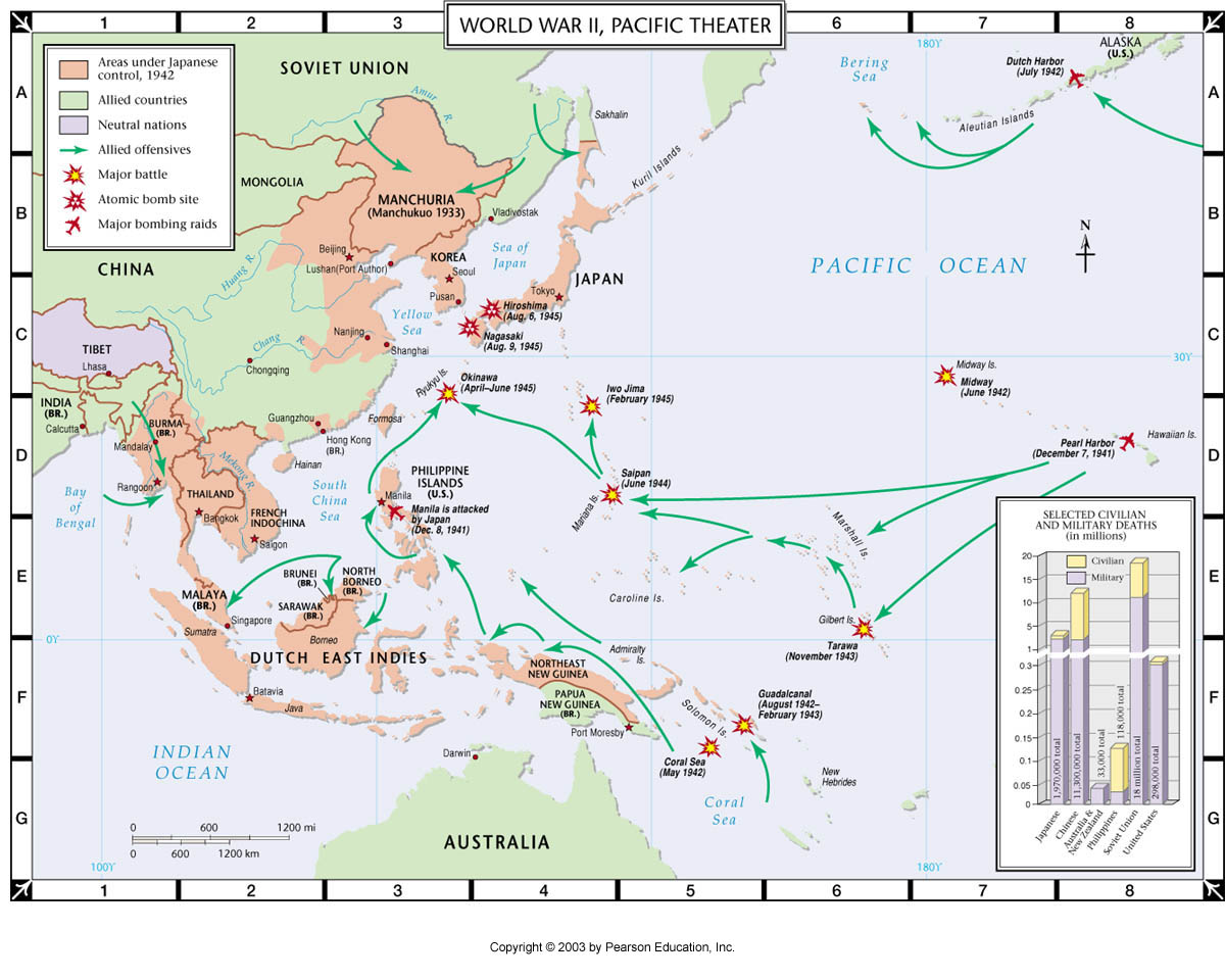 Atlas Map World War Ii Pacific Theater