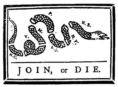 First Political Cartoon in an American Newspaper, by Ben