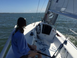 Lesson Student at The Helm