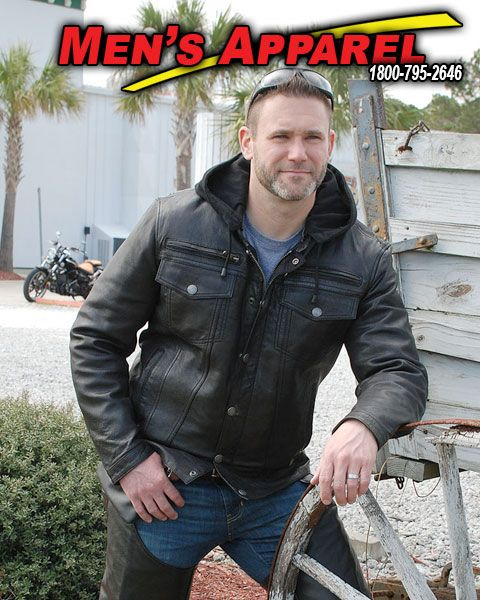 Men's Apparel Featured by Jamin' Leather