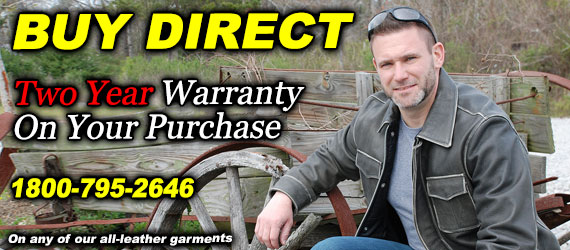 Two year Warranty on all-leather products