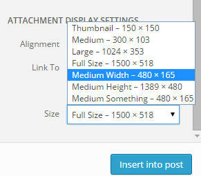 Adding image sizes WordPress