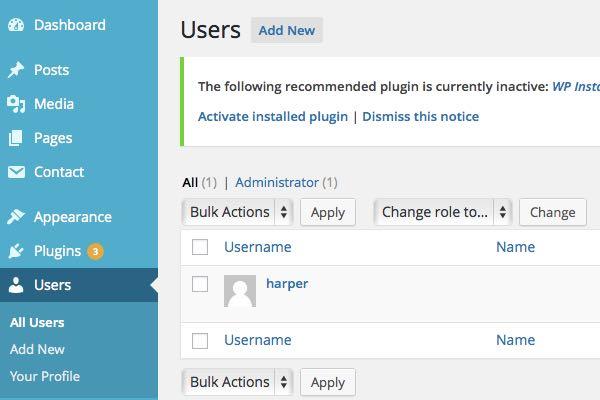 profil de l'utilisateur