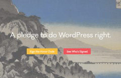 wordpress honor code homepage banner