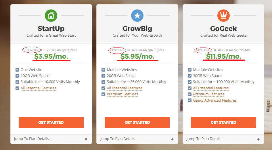 siteground pricing old