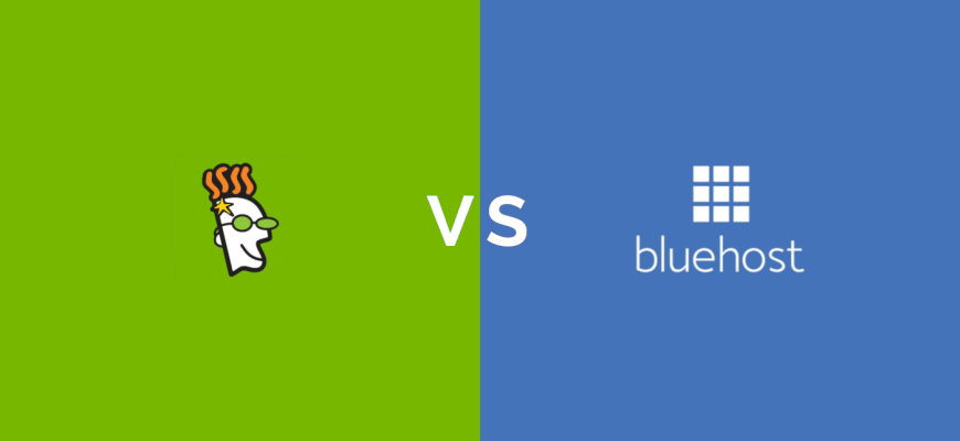 godaddy vs bluehost hosting comparison