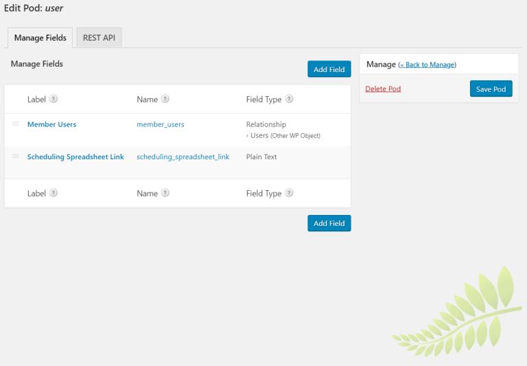 Ajouter une méta d'utilisateur WordPress personnalisée avec des pods