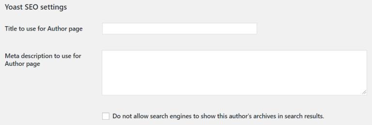 Exemple de méta utilisateur wordpress personnalisé yoast